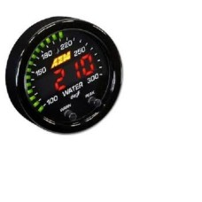 AEM 30-0302 X-Series 100-300F / 40-150C BLACK BEZEL Temperature Gauge
