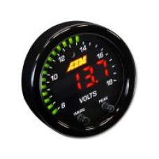 AEM X-SERIES VOLTS GAUGE 8~18V (BLACK BEZEL/BLACK FACEPLATE) #P/N 30-0303