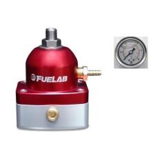 Fuelab 51502-2 Universal RED EFI Adjustable Fuel Pressure Regulator  **With Gauge**