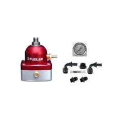 FUELAB 51502-2 Fuel Pressure Regulator & DIY AN Fittings Kit  (RED)