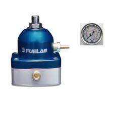Fuelab 51502-3 Universal BLUE EFI Adjustable Fuel Pressure Regulator  **With Gauge**