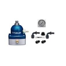 Fuelab 51502-3 Universal BLUE EFI Adjustable Fuel Pressure Regulator & DIY AN Fittings Kit