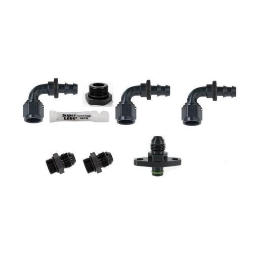 AEM Adjustable Fuel Pressure Regulator 90 degree Fitting Kit