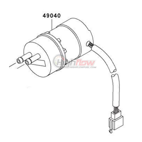 New Electric Fuel Pump Suzuki Boulevard Vl 1500 C90 Replaces
