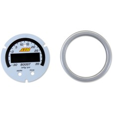 X-Series Boost Pressure Gauge -30inHg~35psi / -1~2.5bar Accessory Kit. Silver Bezel & White Faceplate