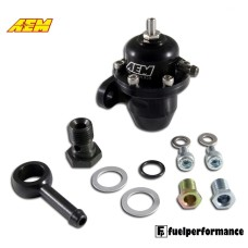AEM HONDA INLINE WITH 90 DEGREE RETURN Fuel Pressure Regulator #25-303BK