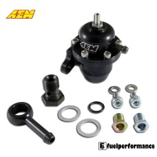 AEM HONDA OFFSET WITH 90 DEGREE RETURN Fuel Pressure Regulator #25-304BK
